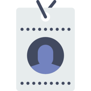 A badge that represents personal accident and sickness insurance for self employed