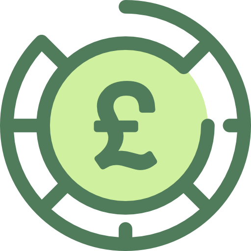 A Pound symbol that represents dentists' income protection insurance