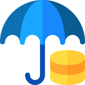 A blue umbrella that represents dentists' income protection insurance