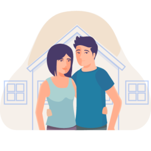 An icon of a couple to symbolize the need for life insurance