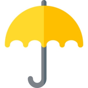 A yellow umbrella that represents dentists' income protection insurance