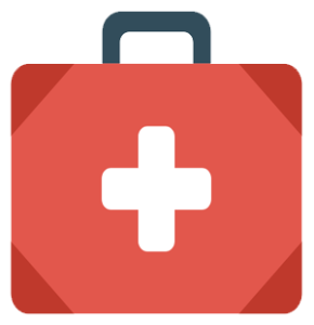 An icon of a med kit to symbolize the need for life insurance
